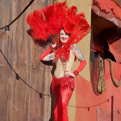 Red Circus Showgirl
